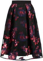 Closet Pleated skirt black/red