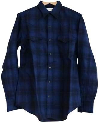 Saint Laurent Navy Cotton Shirts