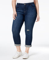 Style&Co. Style & Co Plus Size Distressed Field Wash Boyfriend Jeans, Only at Macy's