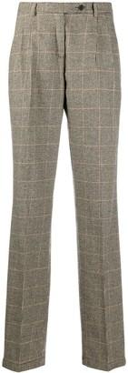 Massimo Alba High-Waisted Houudstooth Trousers