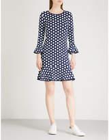 MICHAEL Michael Kors Polka dot flared stretch-jersey mini dress