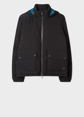 Men's Black Hooded Down Jacket