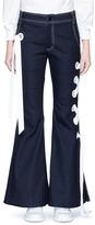 Angel Chen Ribbon lace-up flared denim pants