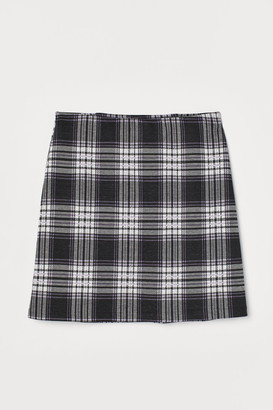 H&M Fitted Jersey Skirt - Black