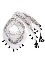 Capelli of New York Girl's Metallic Triangle Scarf With Tassels