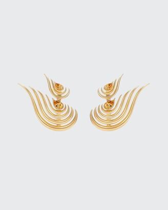 Fernando Jorge Beacon Double Drop Earrings in 18k Yellow Gold and Citrine