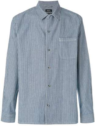 A.P.C. Luca striped denim shirt