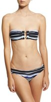 Proenza Schouler Barbell Bandeau Two-Piece Bikini Set, Blue Pattern
