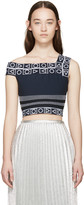 Peter Pilotto Navy Cropped Top