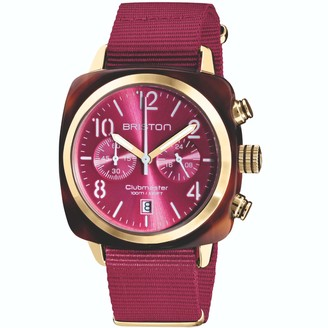 Briston Clubmaster Classic Chronograph Tortoise Shell Acetate Berry