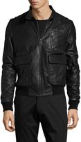 Yves Salomon Men's Leather Bomber Jacket