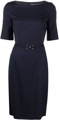 HUGO BOSS Belted Midi Dress