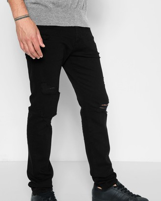 7 For All Mankind Paxtyn Skinny with Clean Pocket and Destroy in Conundrum