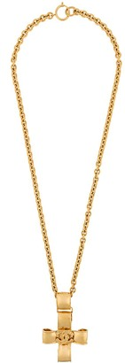 Chanel Pre Owned 1990s Long Cross Necklace