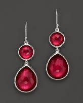 Ippolita Sterling Silver Wonderland Teardrop Snowman Doublet Earrings in Raspberry