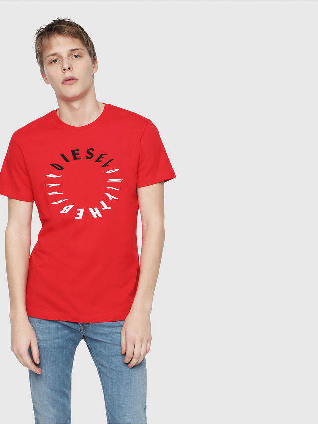 Diesel T-Shirts 0091A - Red - XS