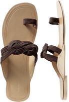 Women's Suede Toe-Strap Sandals