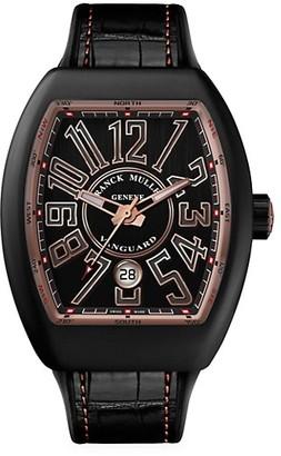Franck Muller Vanguard Brushed Titanium, Rose Gold, Leather Rubber Strap Watch