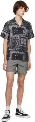 Bather Black & White Bandana Camp Short Sleeve Shirt