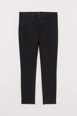 H&M Skinny Fit Cotton Chinos - Black