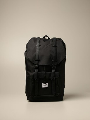 Herschel Canvas Backpack With Double Leather Buckles