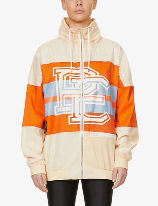 P.E Nation Score Runner logo-print shell jacket