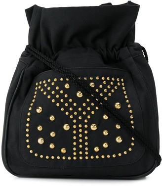 Yves Saint Laurent Pre Owned 1970's Studded Drawstring Shoulder Bag