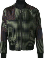 Wooyoungmi striped bomber jacket - men - Polyester/Rayon/Viscose - 44