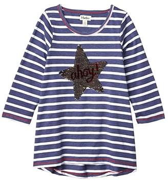 Hatley Nautical Star 3/4 Sleeve Tee (Toddler/Little Kids/Big Kids) (Blue) Girl's Clothing