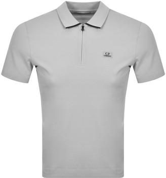 C.P. Company Logo Short Sleeved Polo Grey
