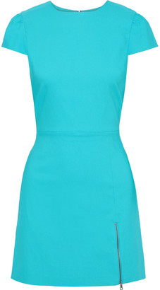 Alice + Olivia Maya Zip-detailed Twill Mini Dress