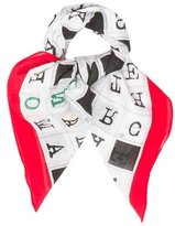 Moschino Mutlicolor Letter Print Scarf