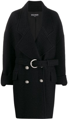 Balmain Double-Breasted Cocoon Coat