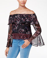 Amy Byer Juniors' Off-The-Shoulder Peasant Top
