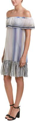 Lemlem Dani Mini Off-The-Shoulder Overlay Dress