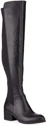 Neiman Marcus Relative Tall Stretch Leather Riding Boots