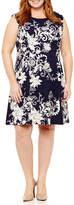 Studio 1 Sleeveless Floral Shift Dress - Plus