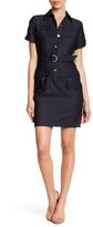 Calvin Klein Short Sleeve Shirt Dress (Petite)