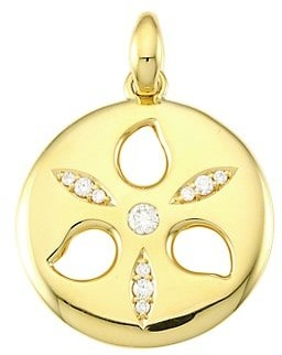 Tamara Comolli 18K Yellow Gold & Diamond Medium Sand Dollar Pendant
