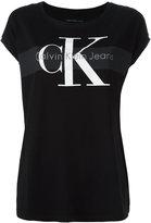 Calvin Klein Jeans logo print T-shirt - women - Cotton - M