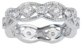 Journee Collection 2/5 CT. T.W. Round-cut CZ Pave Set Polished Wedding Band in Sterling Silver