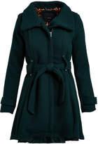 Steve Madden Women's Non-Denim Casual Jackets GREEN - Green Drama Trench Coat - Plus
