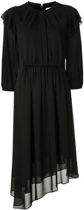 CK Calvin Klein Georgette asymmetric midi dress