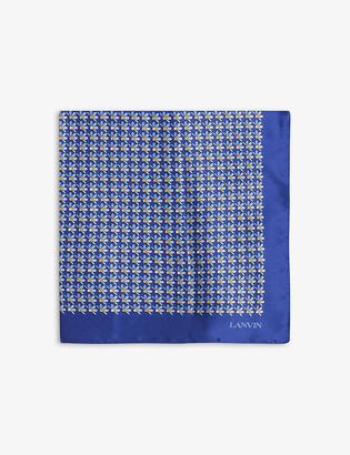 Lanvin Floral-jacquard silk tie and pocket square set