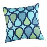 Trina Turk 20x20 Peacock Pillow - Blue