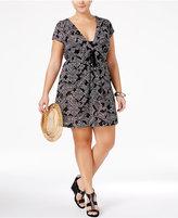 Dotti Plus Size Boho Bombshell Printed Hoodie Dress Cover-Up