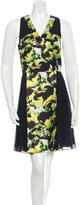 ICB Sleeveless Printed Silk Dress w/ Tags
