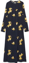 Marni Printed Crepe Maxi Dress - Midnight blue