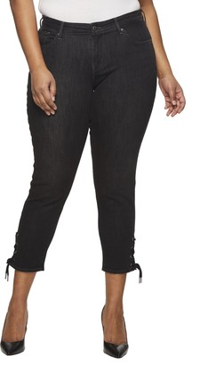Levi's Women's Plus-Size 711 Ankle Skinny with Lace Up Jeans