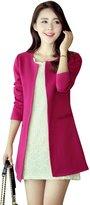YOUJIA Women's Elegant Slim Trench Coat Casual Suit Jacket Blazer Tops (, S)